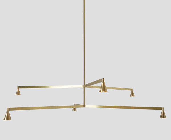 Austere Chandelier 2Y in Brass | DSHOP