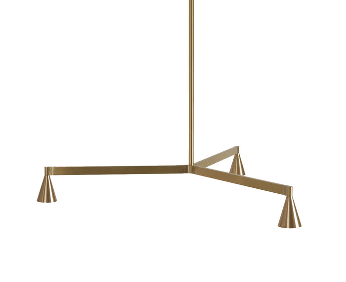 Austere Chandelier 1Y in Brass | DSHOP