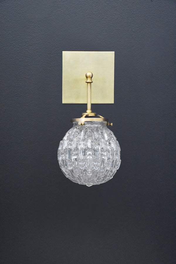 Brilliant Vintage Glass Globe Sconce | DSHOP