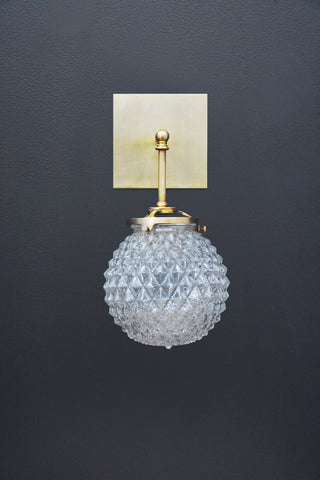 Brilliant Glass Globe Sconce