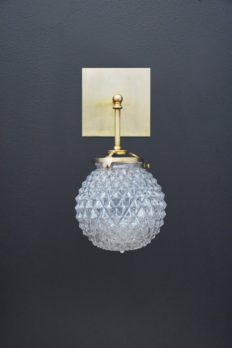 Michelle James Brilliant Glass Globe Sconce | DSHOP