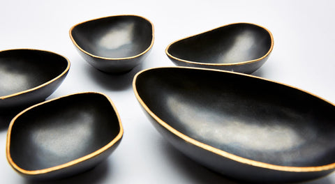 Pebble Bowls - Bronze & Gold - Set of 5