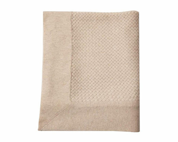 Bari Criss Cross Cashmere Throw - Sand | DSHOP