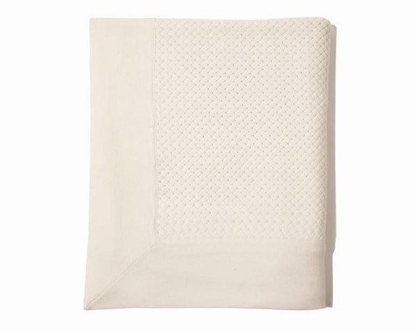 Bari Criss Cross Cashmere Throw - Ivory | DSHOP