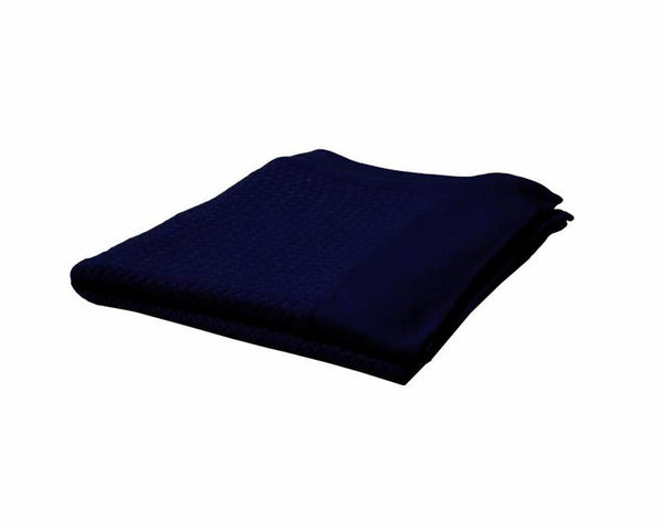 Navy Cashmere Throw | DSHOP