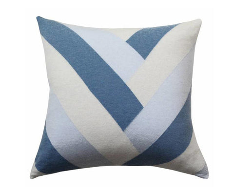 Cashmere V Pillow - Light Blue, Azure, Pearl, Ivory