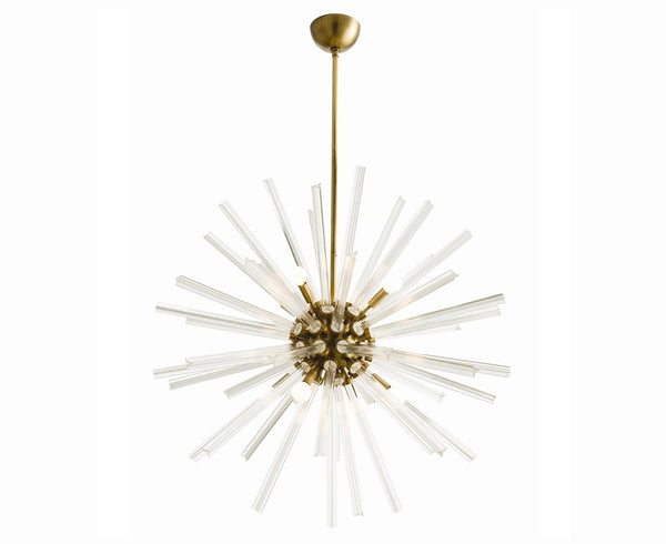 Antique Brass Starburst Chandelier | DSHOP