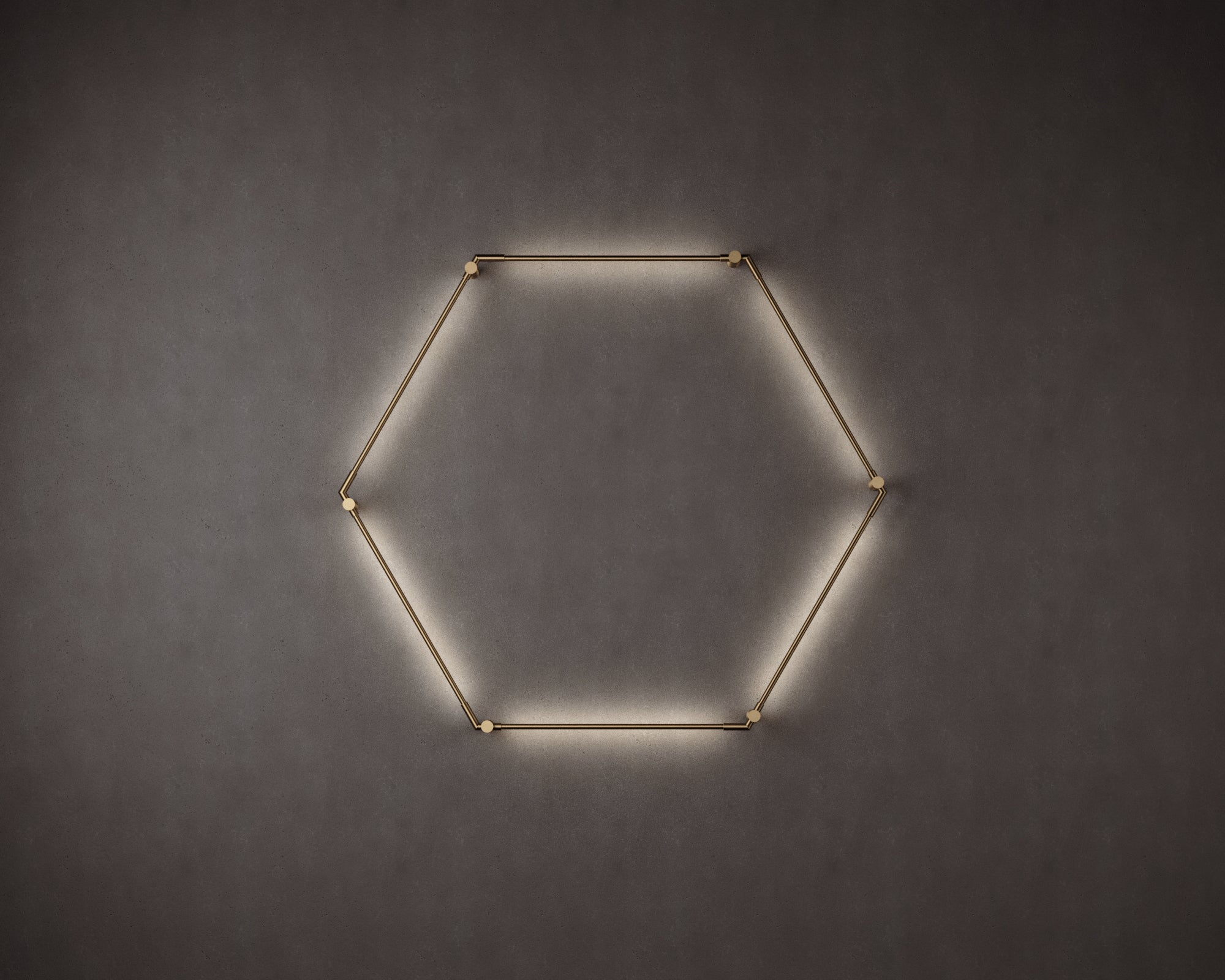 Thin Primaries Wall-Mounted Hexagon