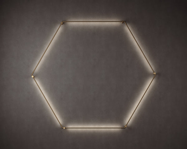 Thin Primaries Wall-Mounted Hexagon | DSHOP