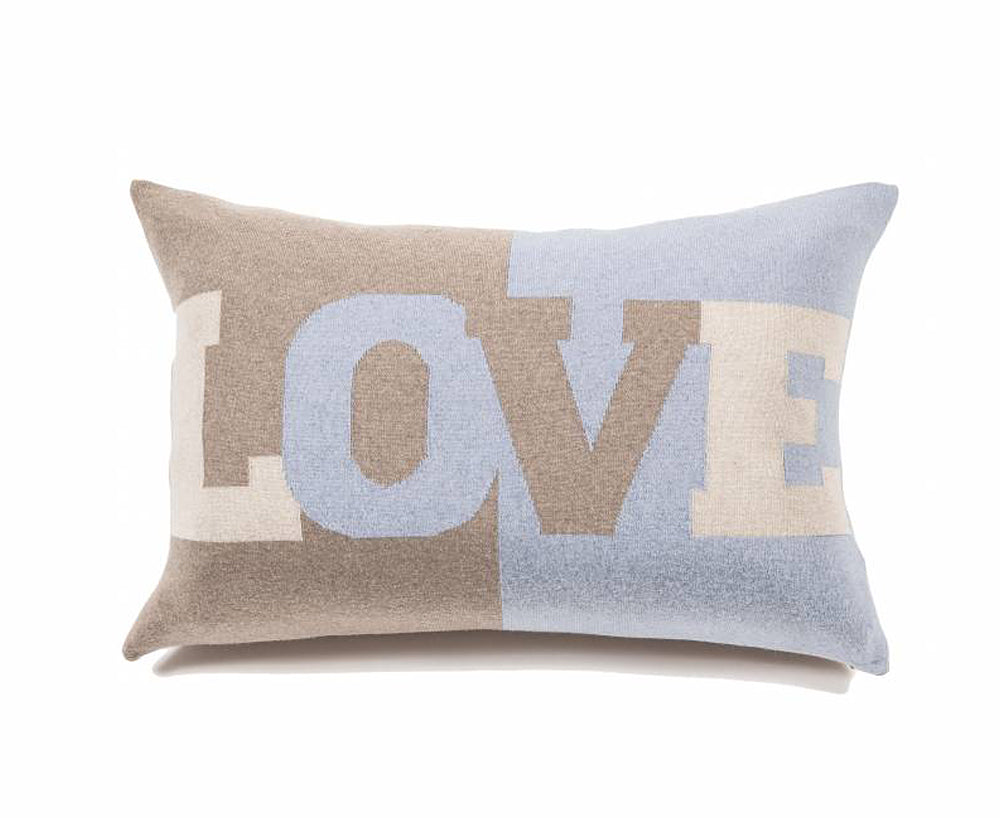 Cashmere Love Pillow - Light Blue, Sand, Ivory