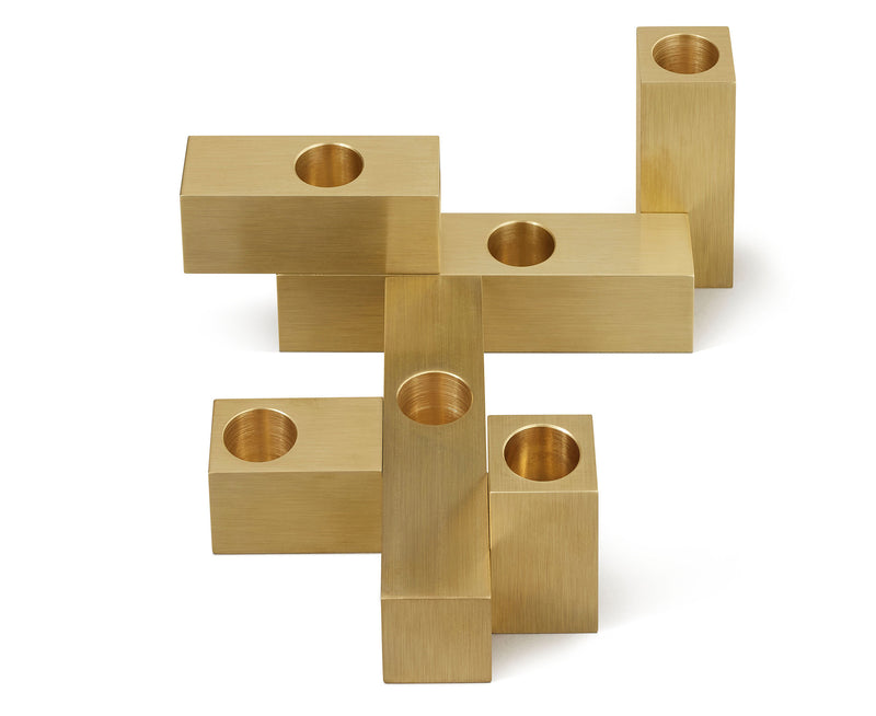 Modern Brass Candle Holder | DSHOP
