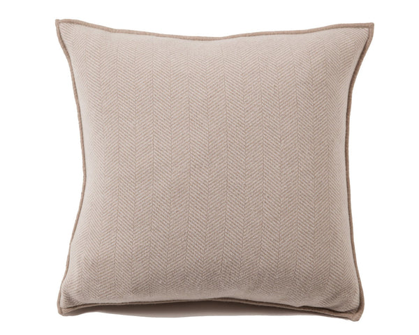Henry Cashmere Pillow - Taupe Ivory | DSHOP