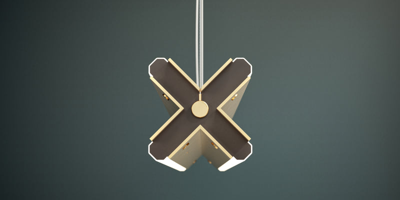 Extruded X Pendant Light | DSHOP
