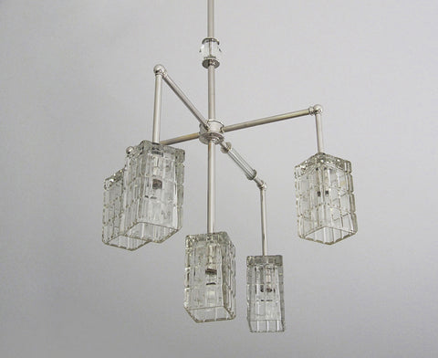 Brilliant Cubed Chandelier - 5 Arm
