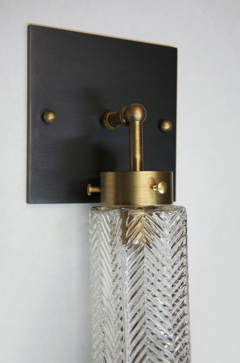 Chrysler Sconce - Square Blackened Brass | DSHOP