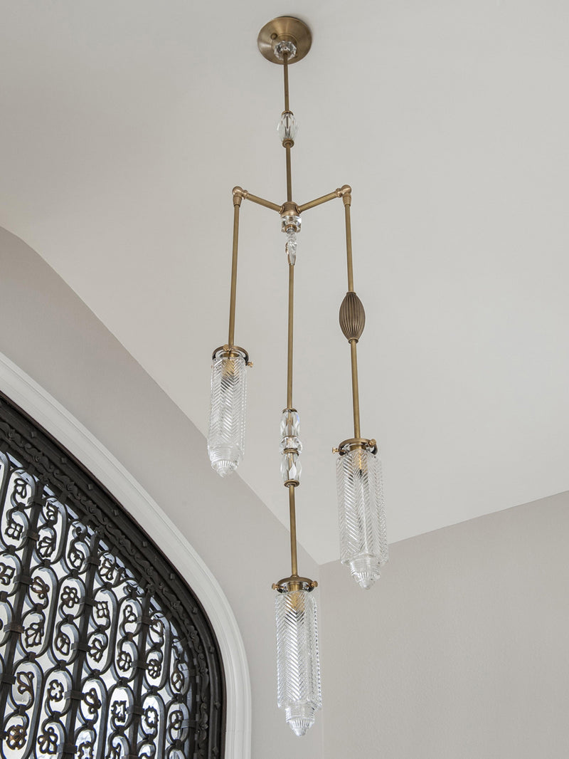 Chrysler Chandelier With Vintage Glass | DSHOP