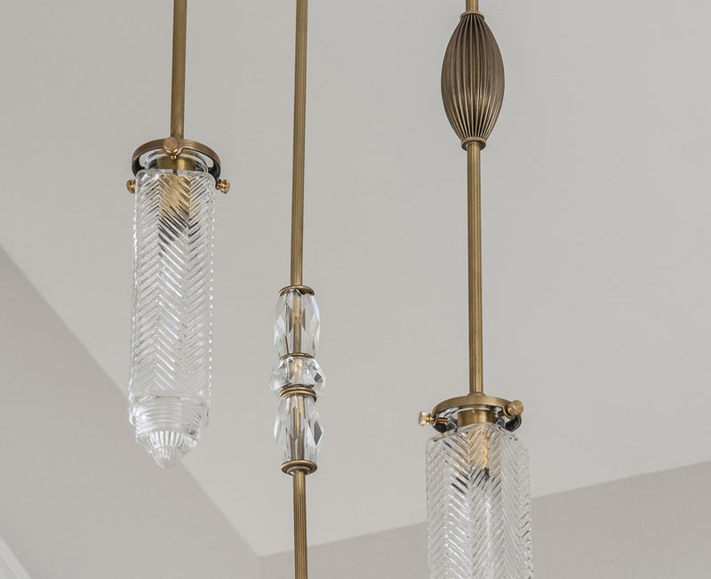 MJ Chrysler Chandelier With Vintage Jewelry - 3 Arm | DSHOP