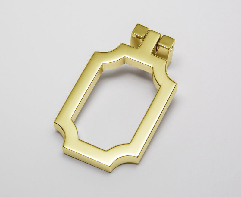 Classic-03 Drop Pull in Polished Brass