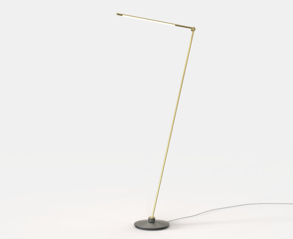 Thin Floor Lamp - Raw Brass | DSHOP