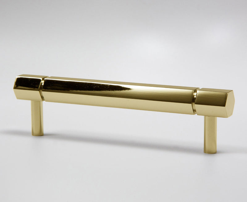 Facet-01 Handle - Polished Brass