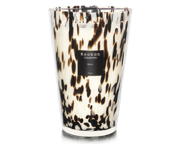 "Black Pearls 13.8"" - Black Rose / Ginger Candle 