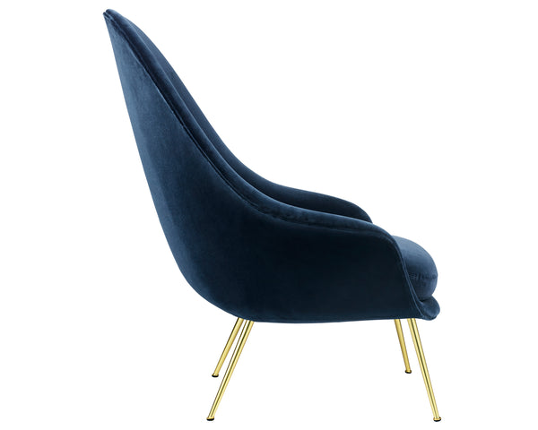 Bat Lounge Chair High Back - Conic Base
