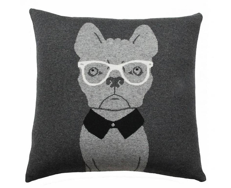Cashmere Blend Dog Pillow - Anthracite Gray