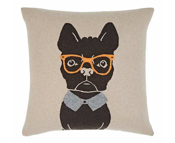 Cashmere Blend Dog Pillow - Sand Orange