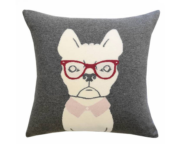 Cashmere Blend Dog Pillow - Pink