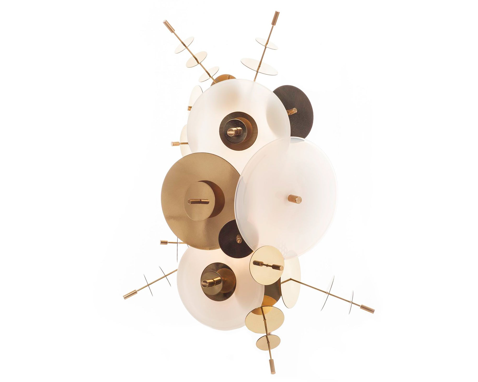 Confetti Sconce  - Cream/Opaline/Brass