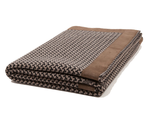 Denver Cashmere Jacquard Throw - Coal Taupe