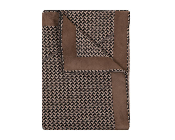 Denver Cashmere Jacquard Throw - Coal Taupe | DSHOP
