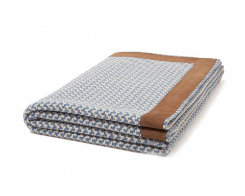 Denver Cashmere Jacquard Throw - Denim Sand