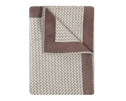 Denver Cashmere Jacquard Throw - Grey Ivory | DSHOP