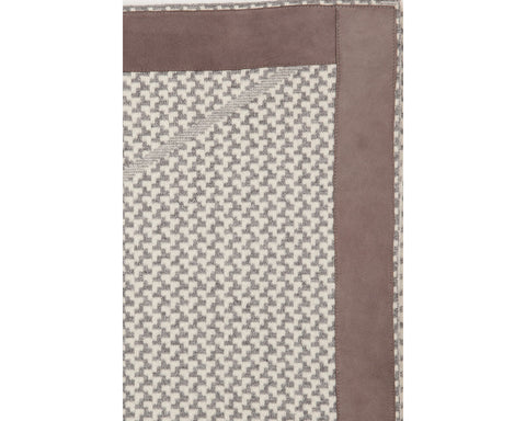 Denver Cashmere Jacquard Throw - Grey Ivory