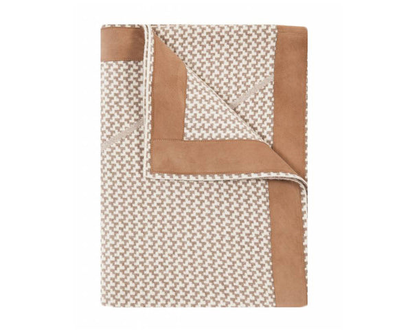 Denver Cashmere Jacquard Throw - Taupe Ivory | DSHOP