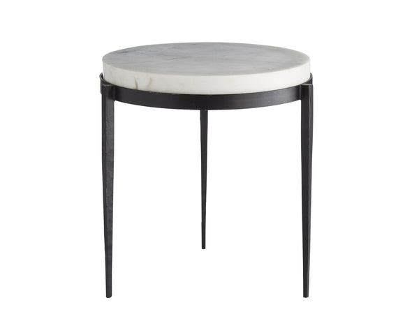 Tapered Leg Marble Accent Table | DSHOP