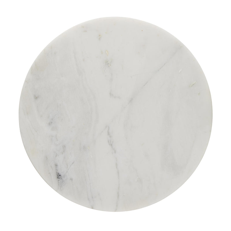 Round White Marble Accent Table | DSHOP