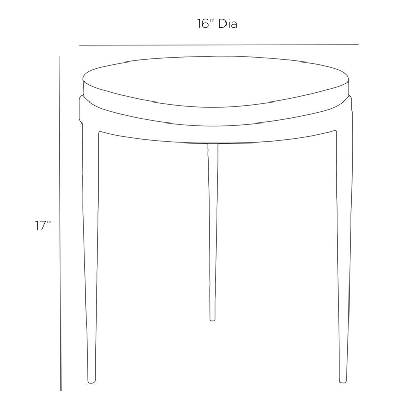 Marble & Hand Forged Iron Accent Table | DSHOP