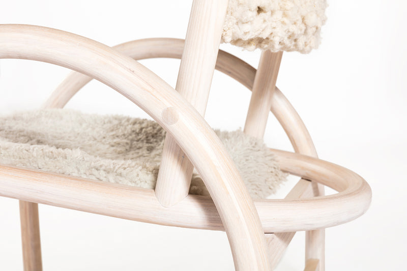 Hinterland Shepherd's Chair - White Sheepskin | DSHOP