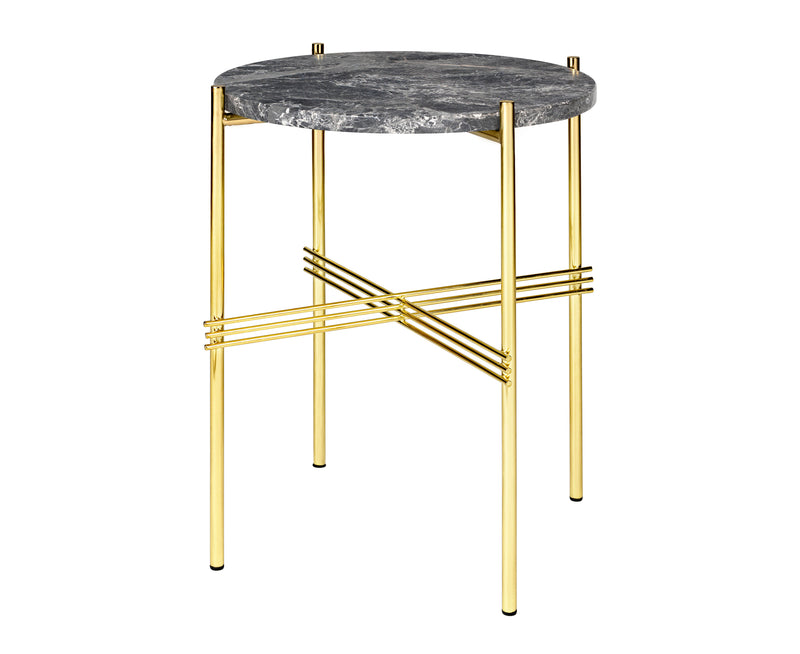 TS Lounge Table Small - Brass & Marble | DSHOP