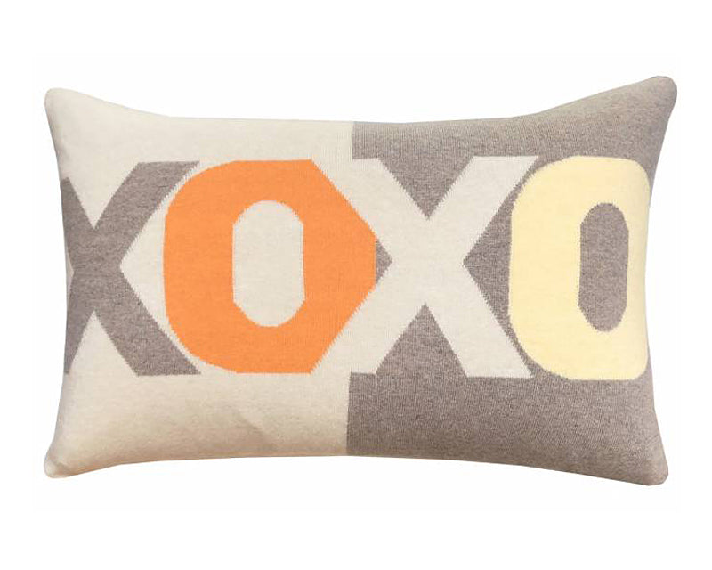 Cashmere XOXO Pillow - Orange Sand