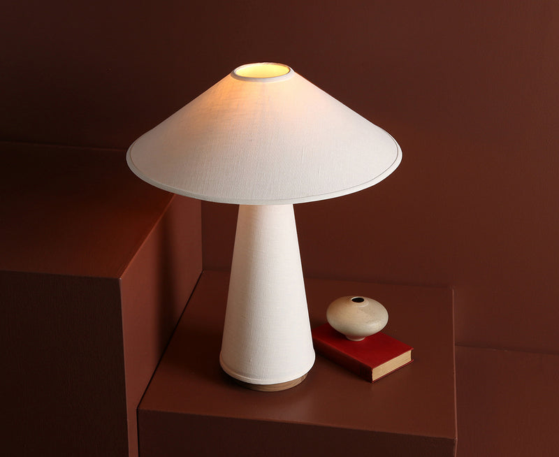 Cream Linen Table Lamp | DSHOP