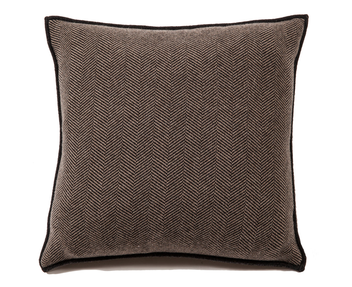 Henry Cashmere Blend Pillow - Charcoal Taupe