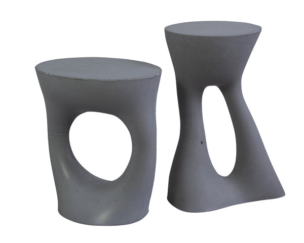 Krete Side Table - Charcoal | DSHOP