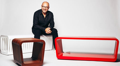 Link Table / Bench Closed - Red Lacquer