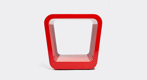 Link Table / Stool - Red Lacquer