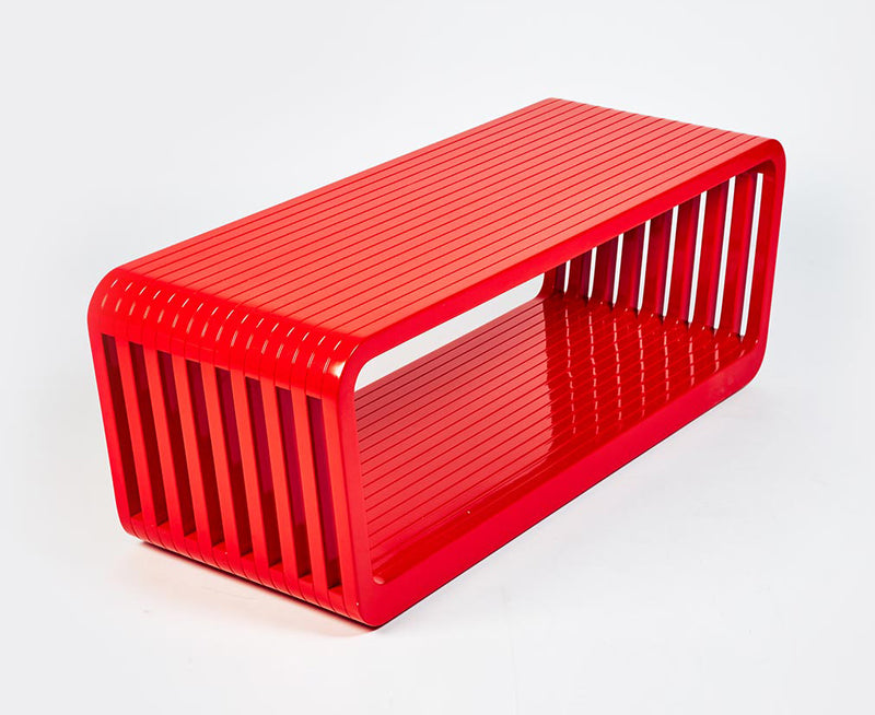 Link Coffee Table / Bench Open - Red Lacquer | DSHOP