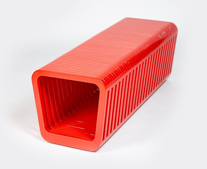 Link Table / Bench Closed - Red Lacquer | DSHOP