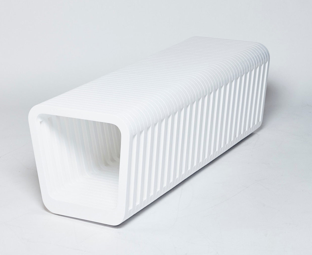 Link Table / Bench Closed - White Lacquer